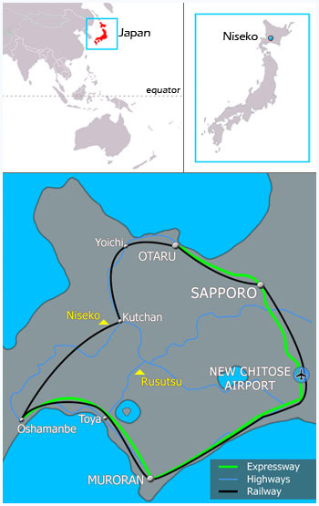 Getting To Niseko Map