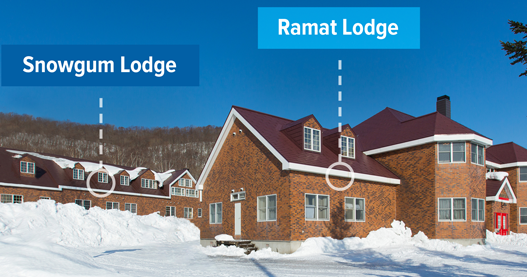 What are the differences between the lodges at Ramat Niseko?