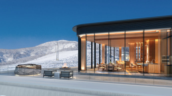 Penthouse view at Skye Niseko